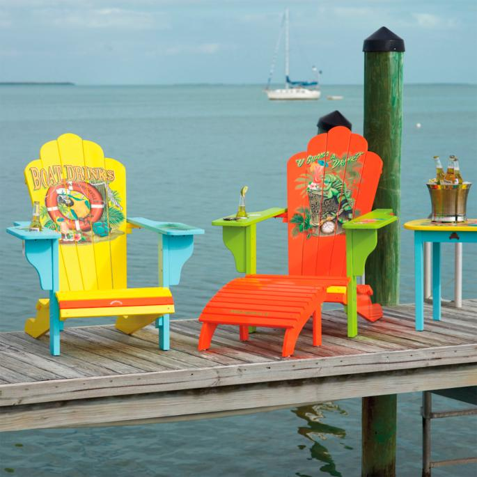 Margaritaville Boat Drinks Adirondack Chair