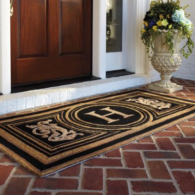 Wingate Monogrammed Entry Mat Frontgate