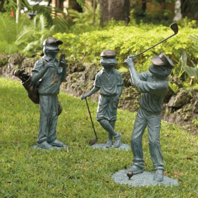 Golfing Garden Frogs Frontgate