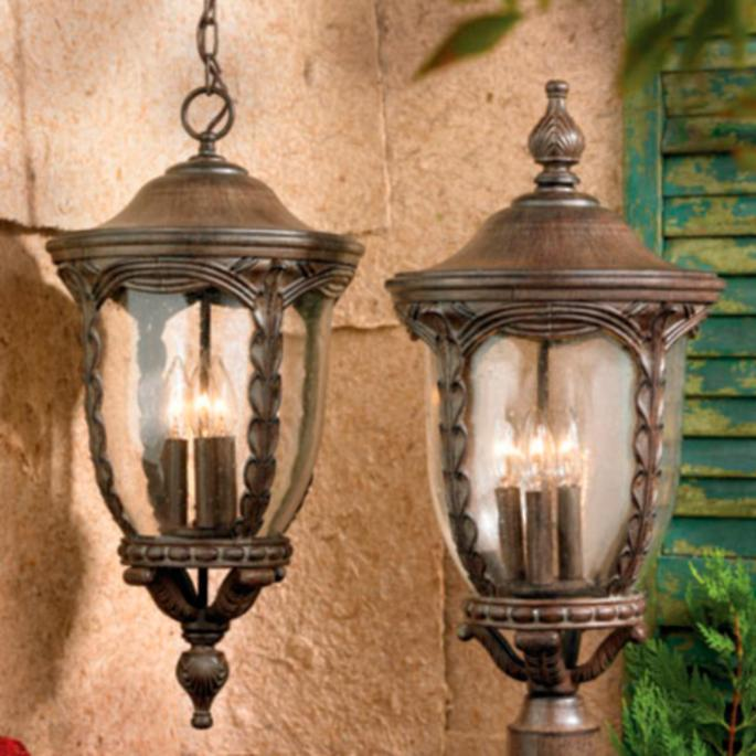 Charleston outdoor lighting collection frontgate wall lantern workwithnaturefo