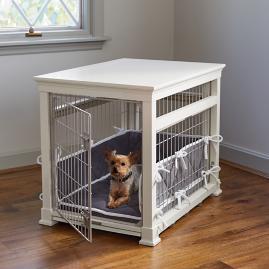 Luxury White Pet Residence Dog Crate