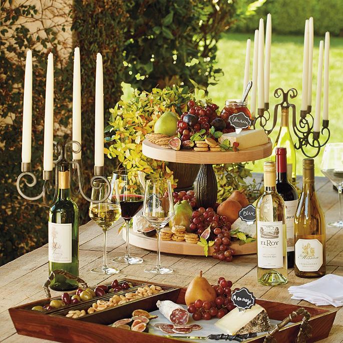 wine bottle candelabras