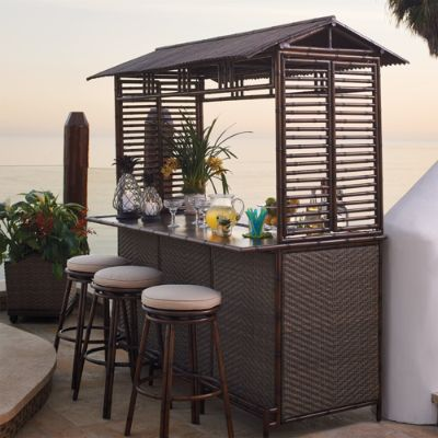 St Martin Tiki Bar Height Seating Frontgate