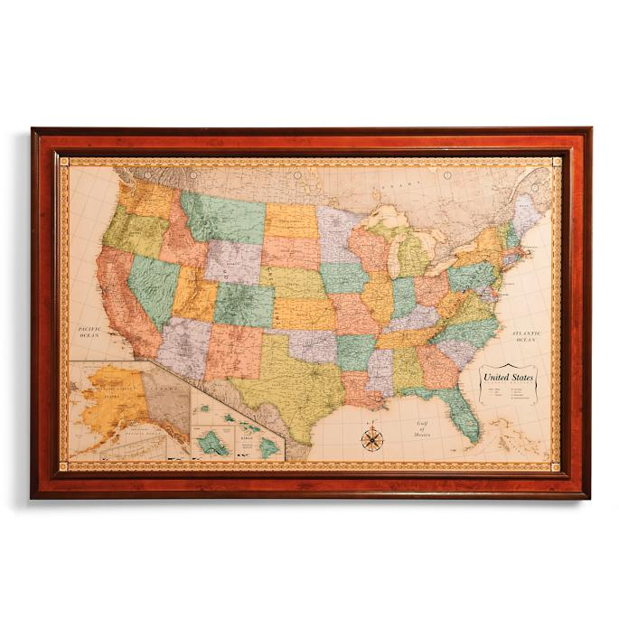 US Magnetic Travel Map Frontgate - Travel map us
