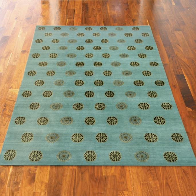 Thomas O Brien Ocean Hand Knotted Wool And Silk Area Rug